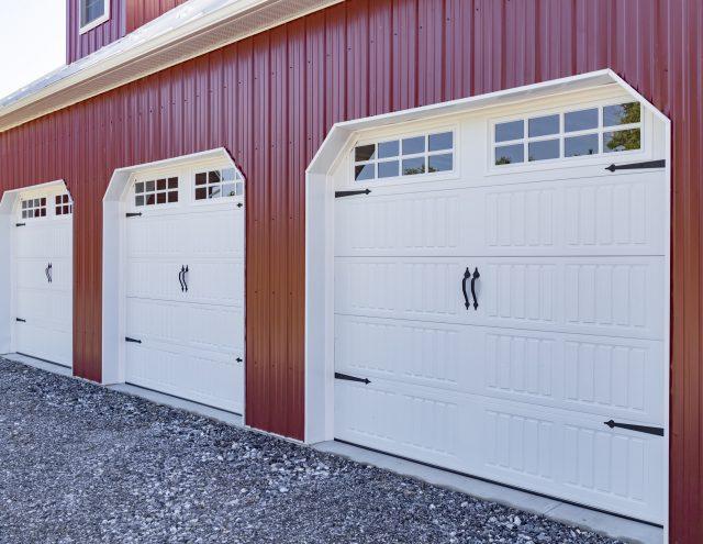 custom built three car garage