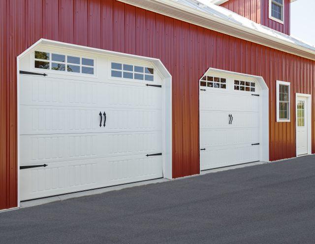 metal two car garage