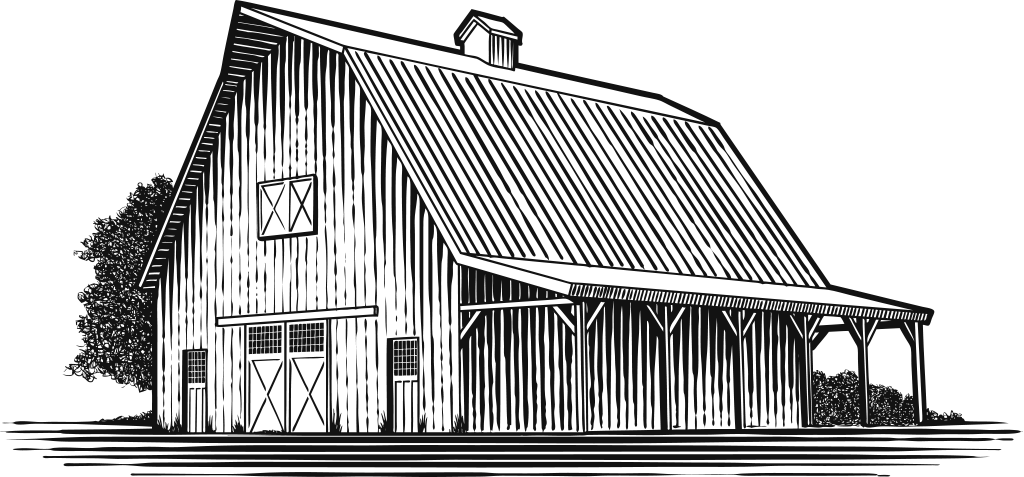new construction barn sketch