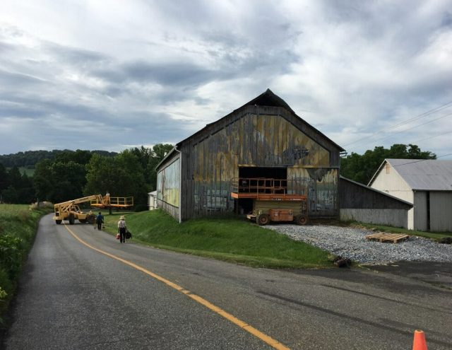 old barn being restored in pa