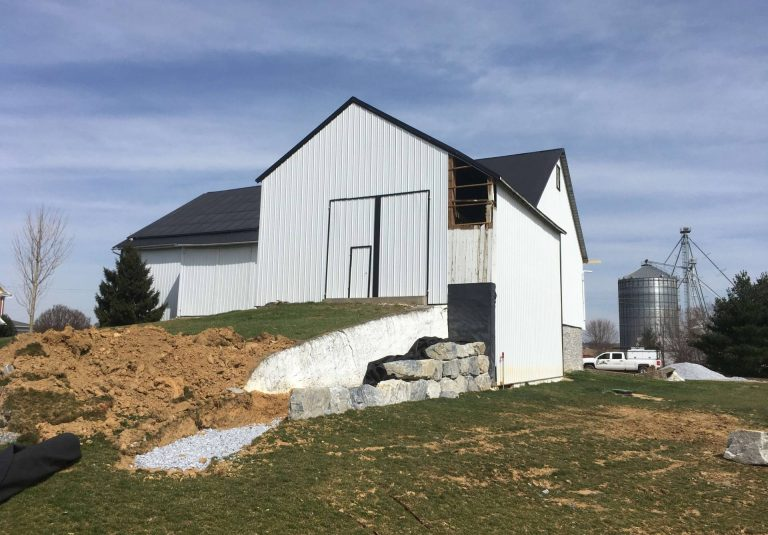 white old bank barn remodel